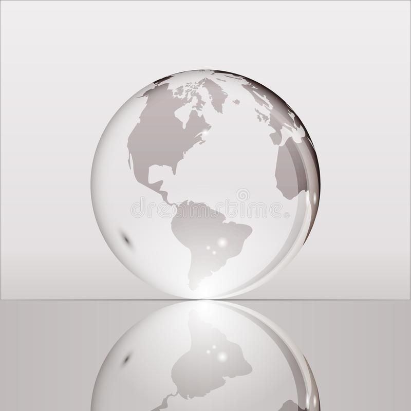Globo trasparente brillante grigio della terra royalty illustrazione gratis