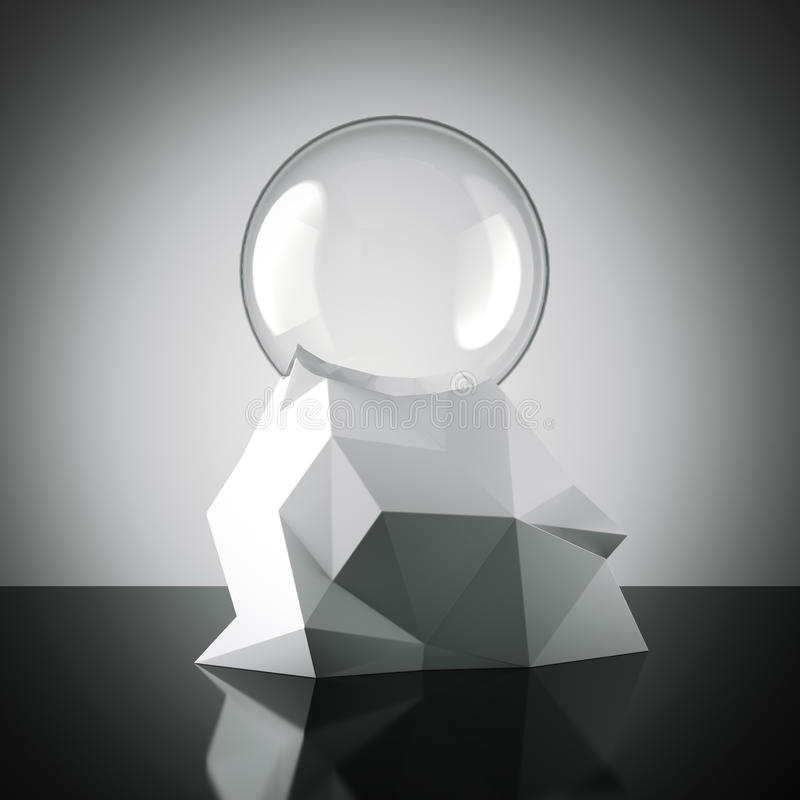 Globo vazio com base futurista rendição 3d ilustração stock