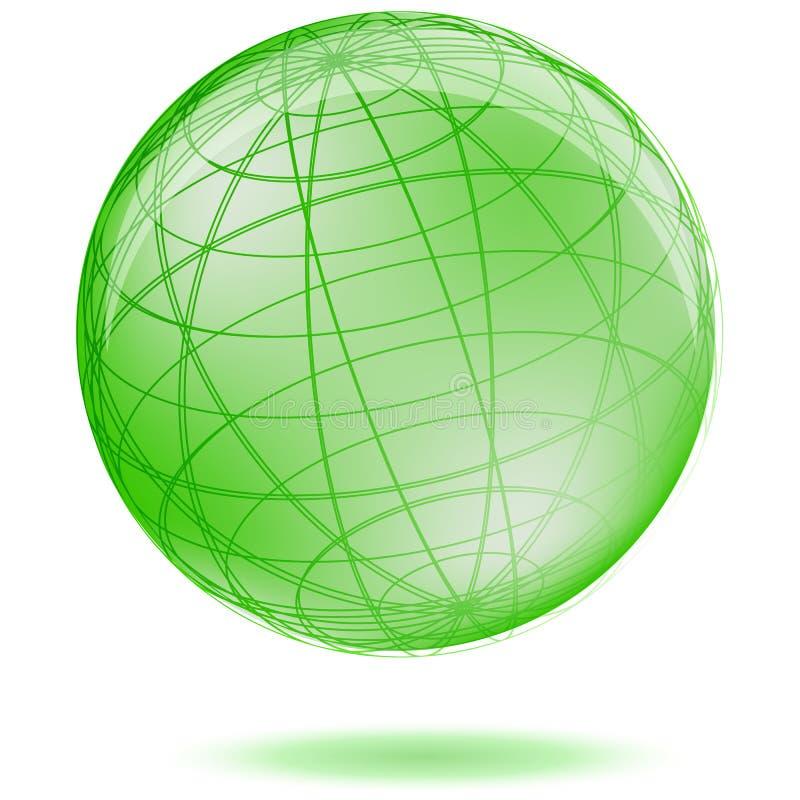 Globo verde illustrazione di stock