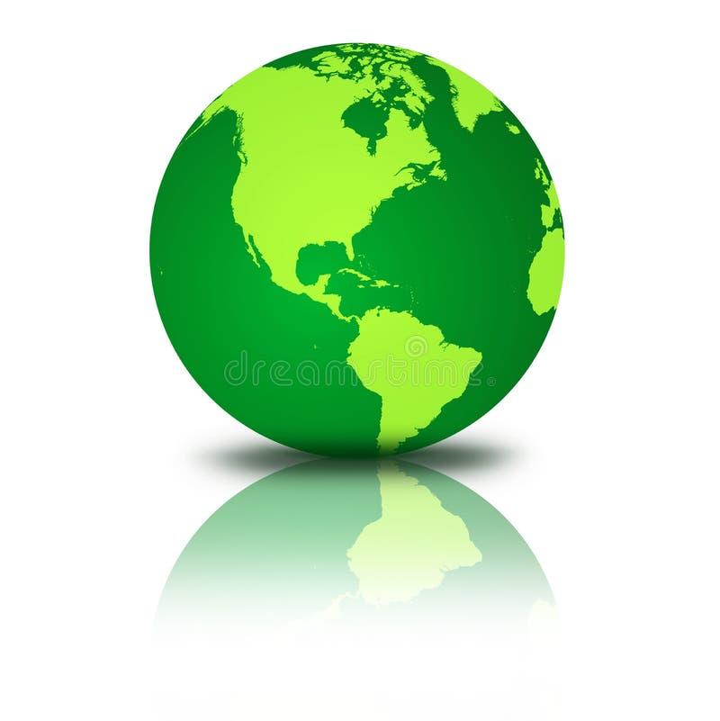 Globo verde ilustração stock