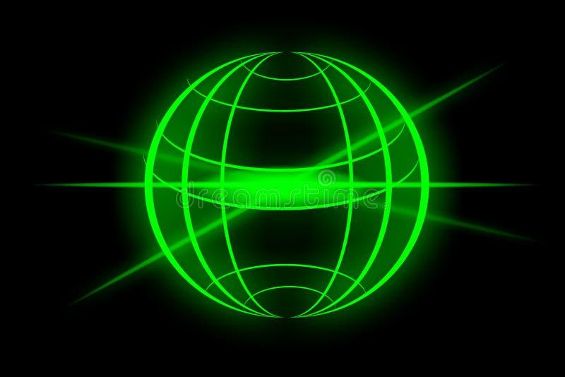 Globo verde ilustração royalty free