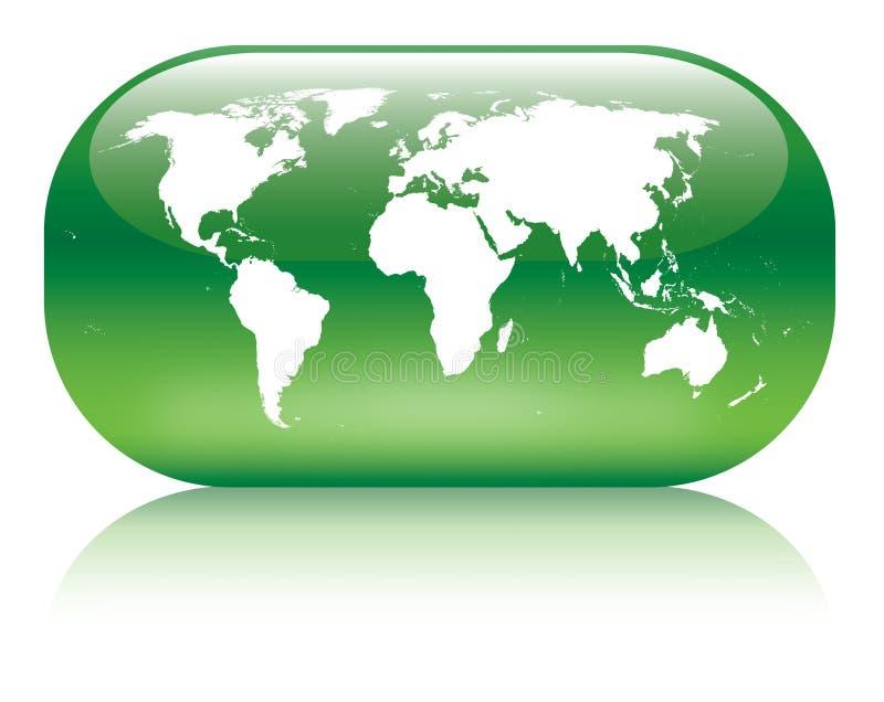 Globo verde ilustração do vetor
