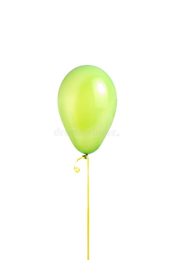 Globo verde del helio imagen de archivo libre de regalías