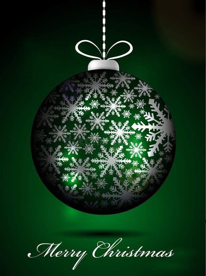 Globo verde di Natale illustrazione vettoriale