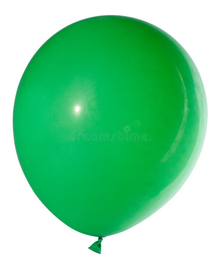Globo verde hinchado imagen de archivo