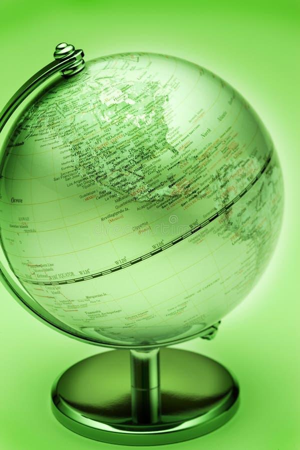 Globo verde Norteamérica ilustración del vector