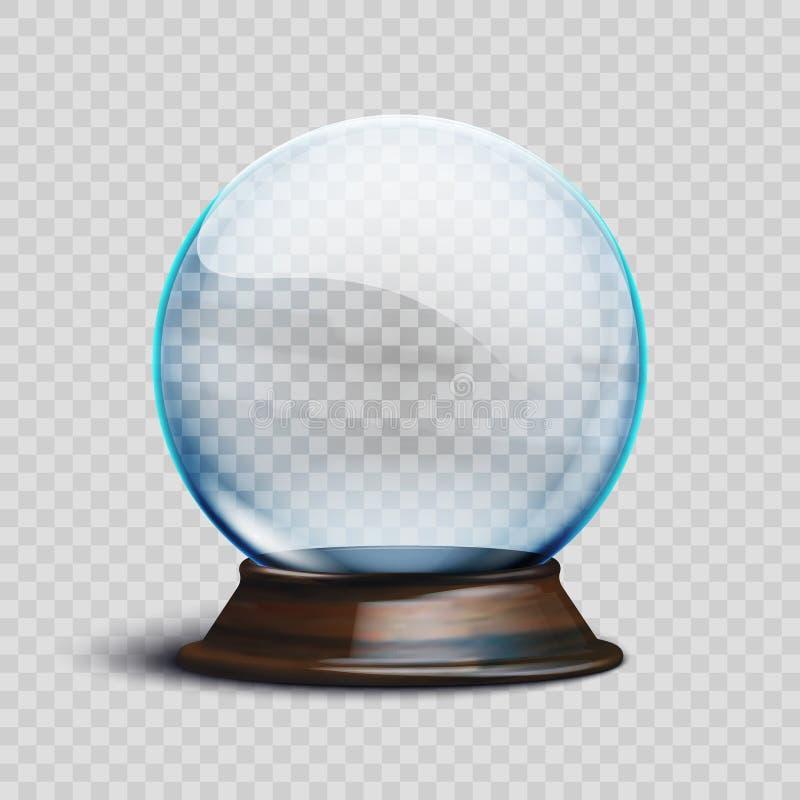 Globo vuoto realistico della neve di natale dell'illustrazione di riserva di vettore isolato su un fondo trasparente ENV 10 royalty illustrazione gratis