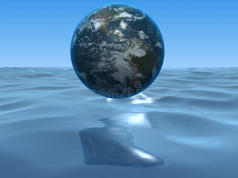 Globo y océano stock de ilustración