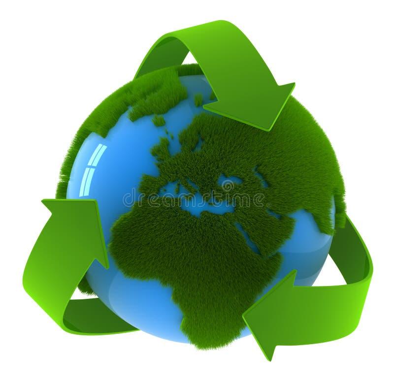 Globo y reciclar símbolo libre illustration