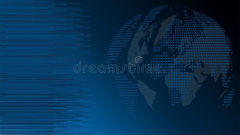 Globo y tierra, globo hecho de puntos, fondo de la tecnología, globo del mapa del mundo libre illustration