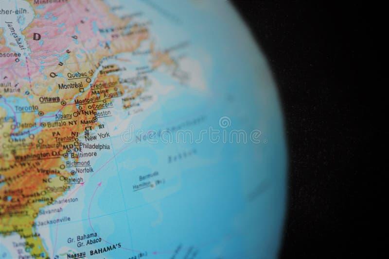 Globo, zumbido dentro em New York fotografia de stock