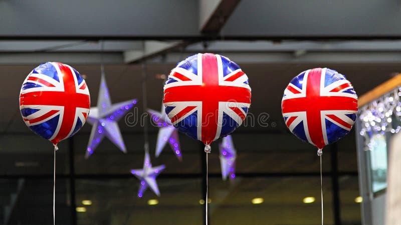 Globos británicos imagenes de archivo