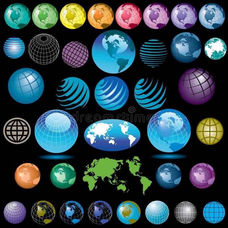 Globos coloridos ilustración del vector