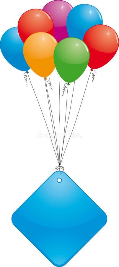 Globos coloridos con la bandera ilustración del vector