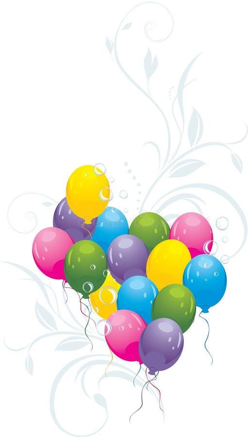Globos con las puntillas y las burbujas decorativas