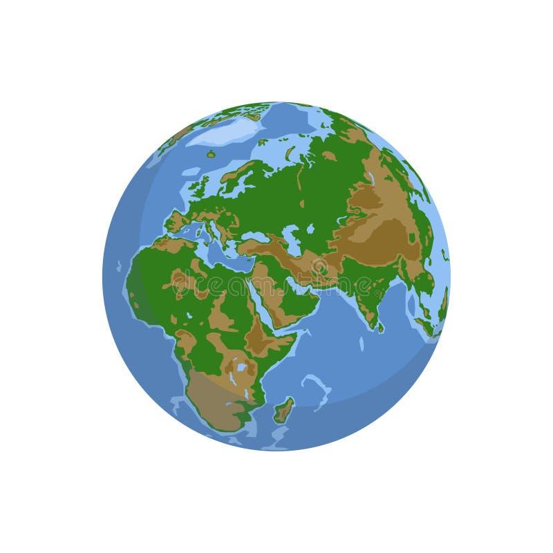 Globos da terra isolados no fundo branco ilustração do vetor