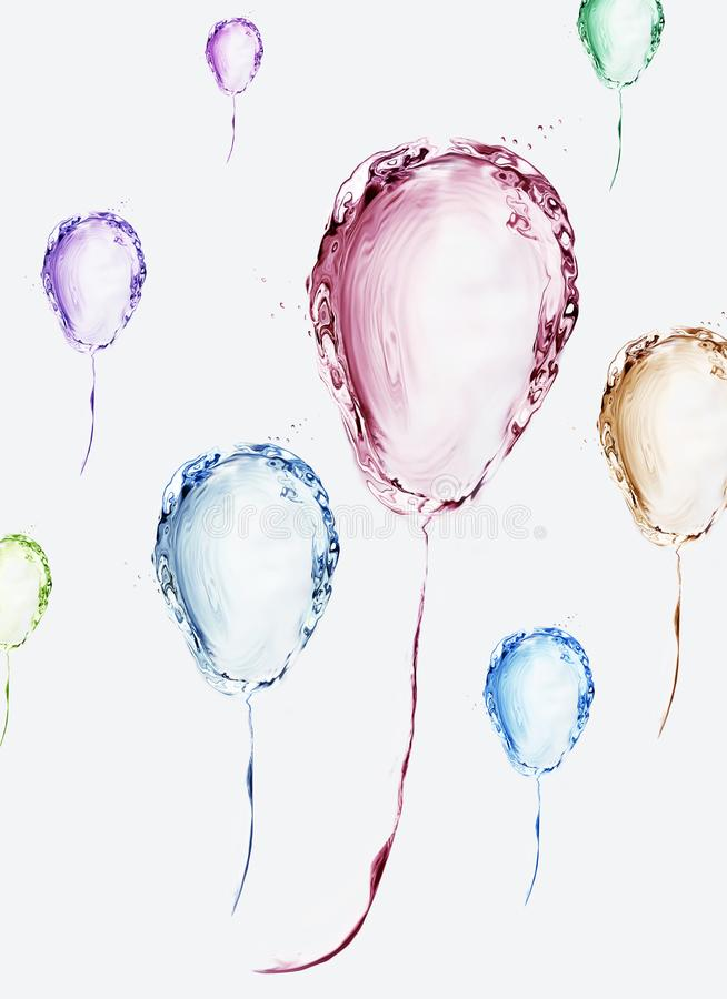 Globos de agua coloridos foto de archivo