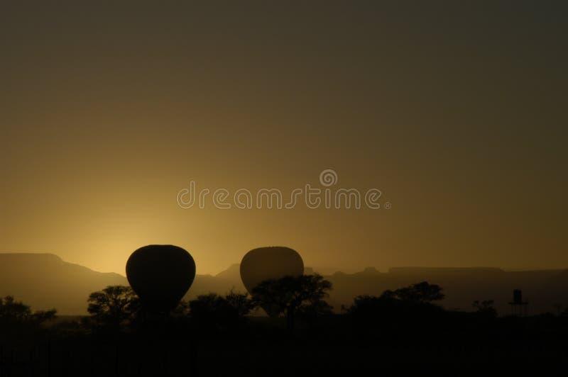 Globos de aire caliente, Namibia foto de archivo libre de regalías