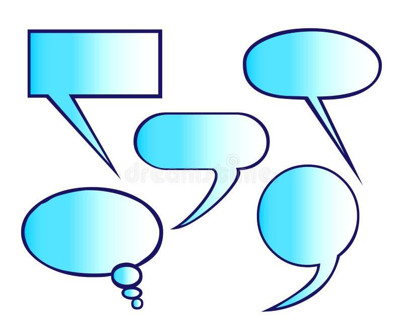 Globos de discurso ilustración del vector