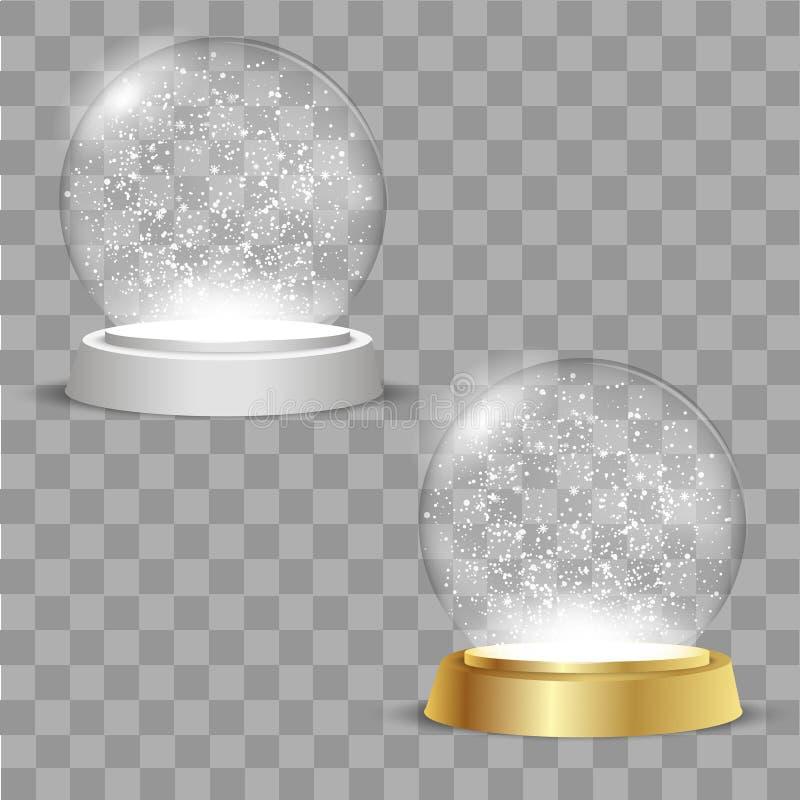 Globos de la Navidad en fondo transparente Vector stock de ilustración