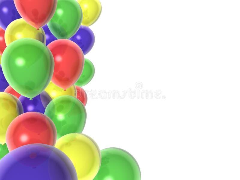 Globos del cumpleaños ilustración del vector
