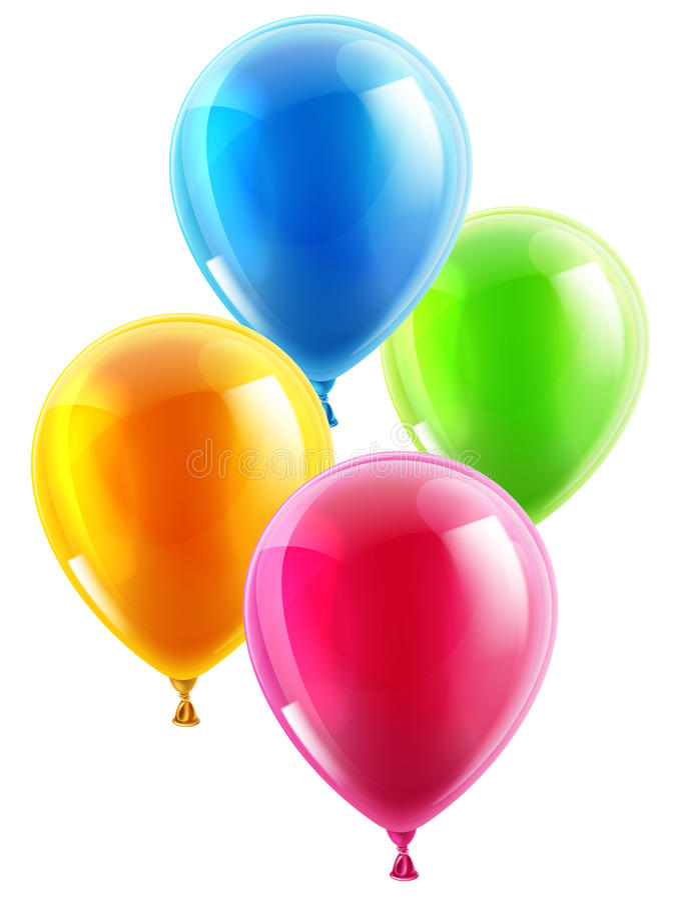 Globos del cumpleaños o del partido ilustración del vector