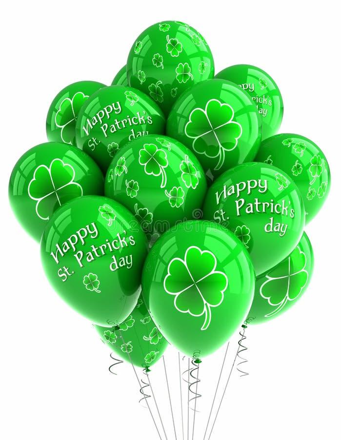 Globos del día del St. Patrick stock de ilustración