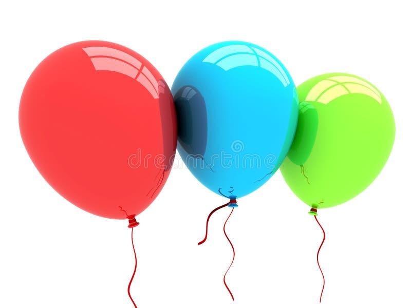 globos del partido 3D stock de ilustración