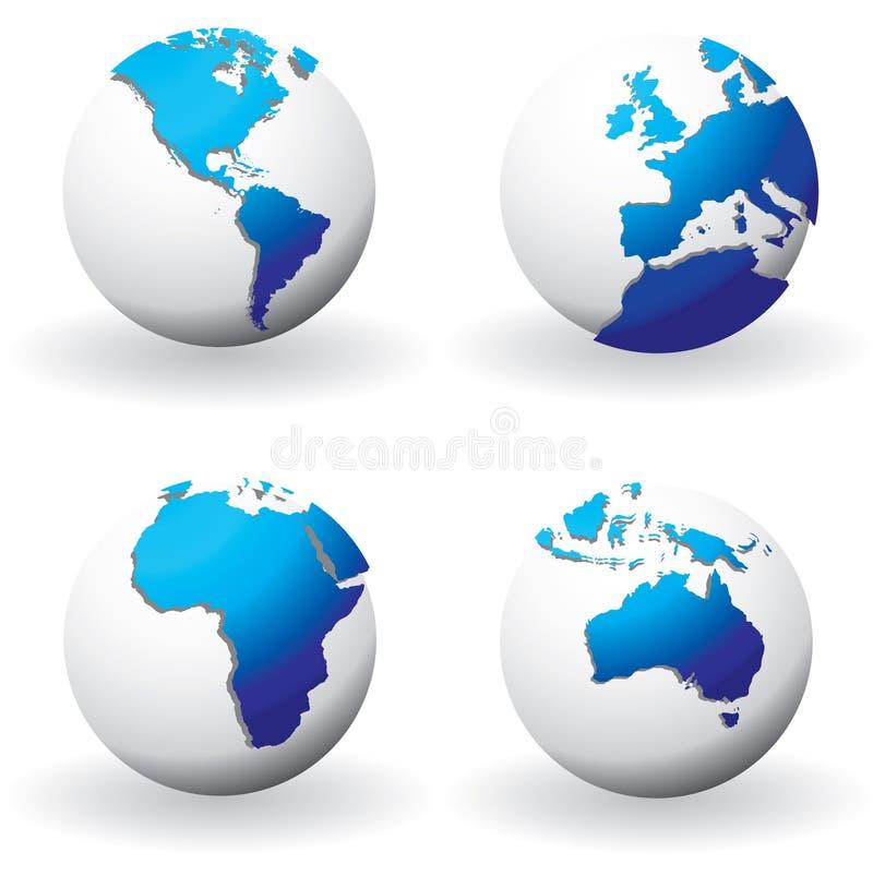 Globos do mundo ilustração royalty free