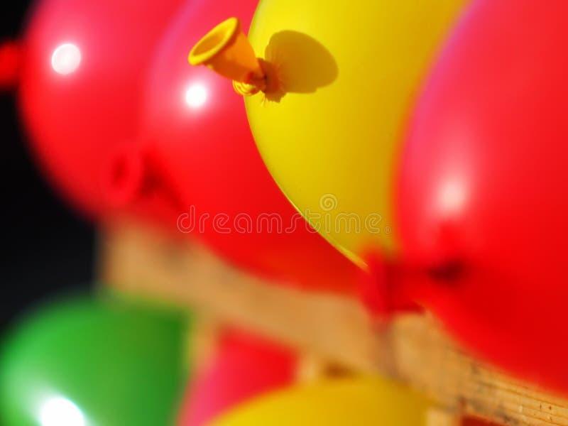 Globos inflados en varios fotografía de archivo