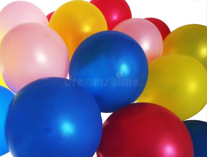 Globos llenados helio del partido foto de archivo libre de regalías