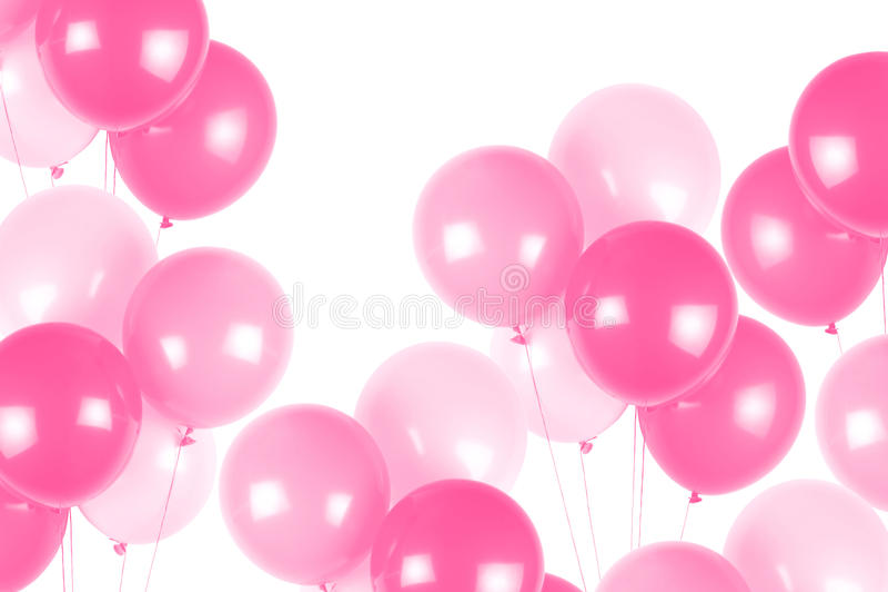 Globos rosados del partido fotos de archivo libres de regalías