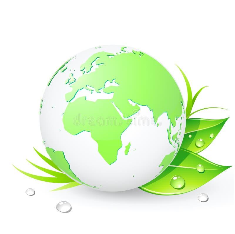 Globos verdes ilustração do vetor