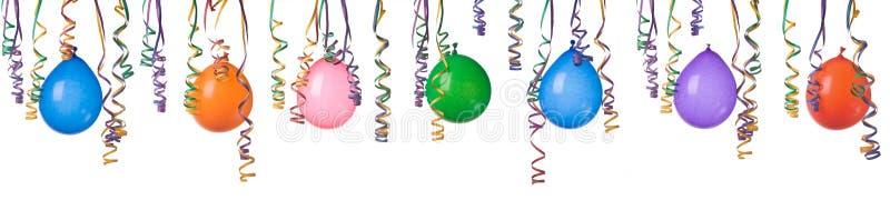 Globos y confeti imagen de archivo libre de regalías