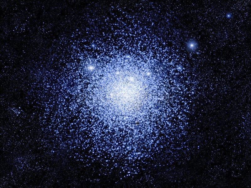 Download Globular cluster stock illustration. Image of field, nebula - 6625261