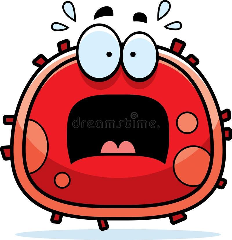 Globule rouge effrayée illustration libre de droits