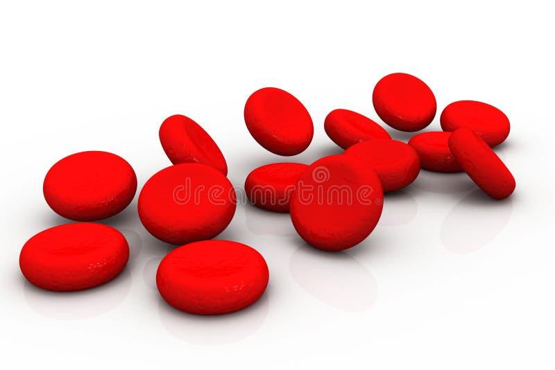 Globules rouges illustration libre de droits