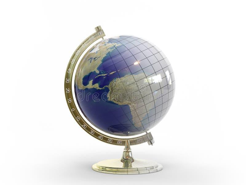 globus 3d stock illustrationer