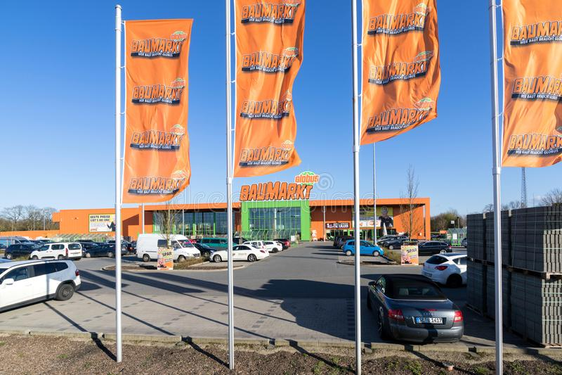 Globus Baumarkt в Kaltenkirchen, Германии стоковая фотография