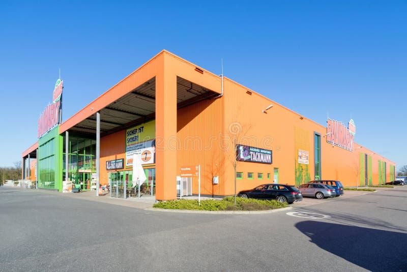 Globus Baumarkt em Kaltenkirchen, Alemanha fotos de stock royalty free
