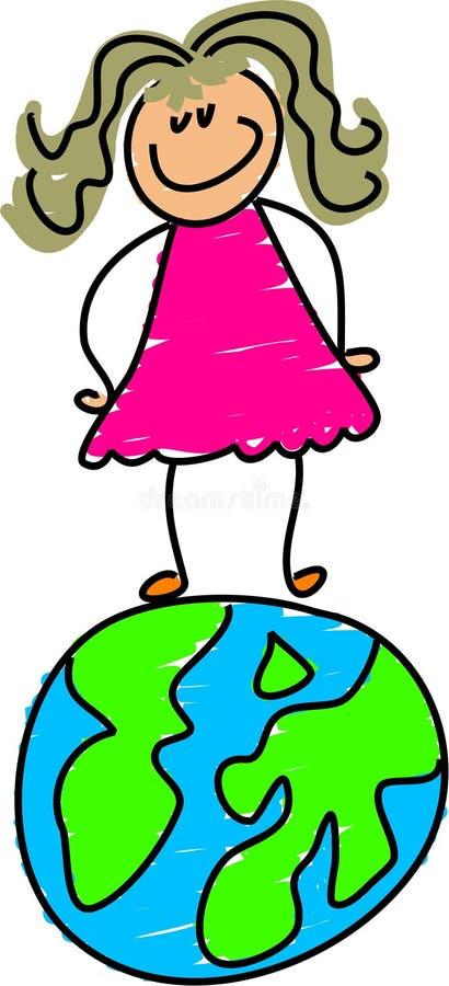 - globus dzieciaku royalty ilustracja