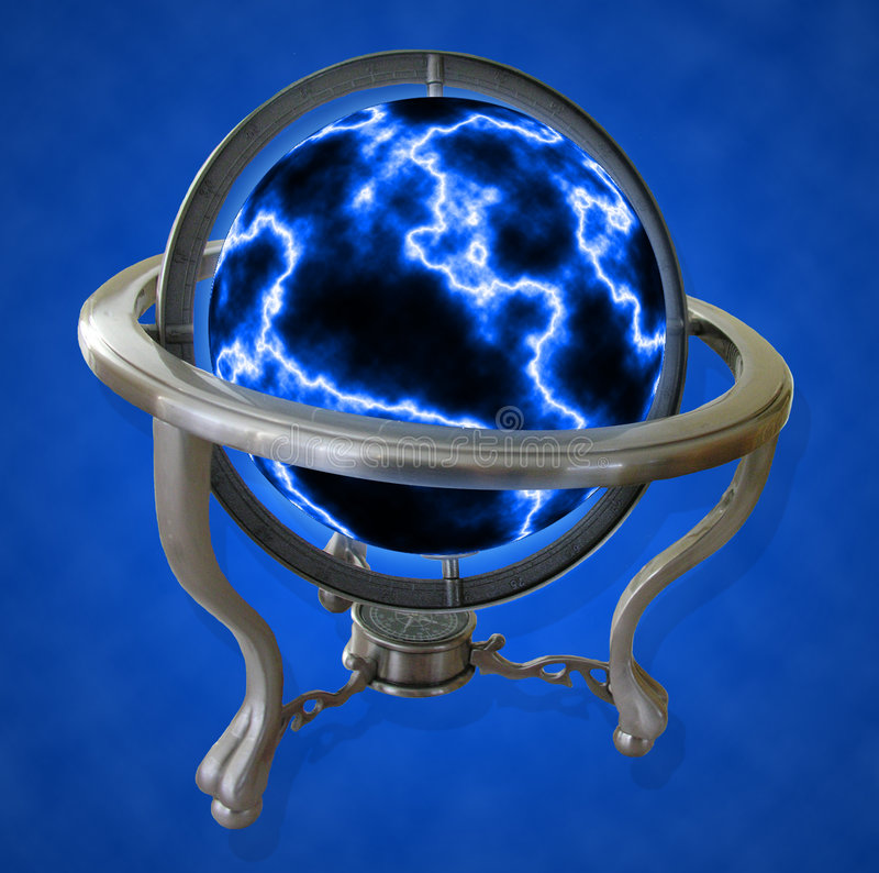 - Globus Elektryczna Obrazy Stock