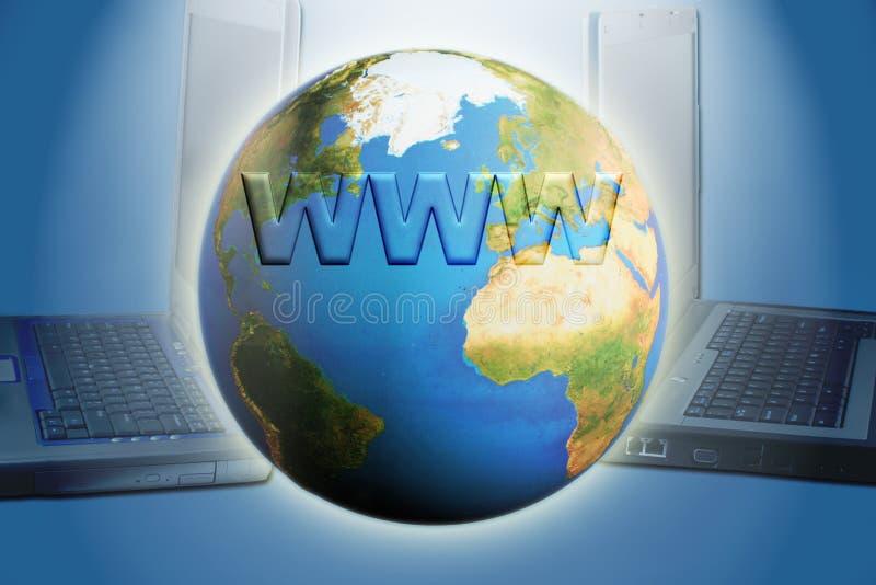 - globus internetu ilustracji
