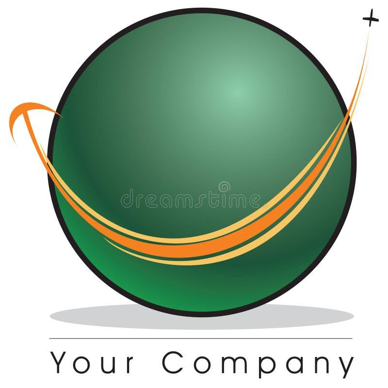 - globus logo royalty ilustracja