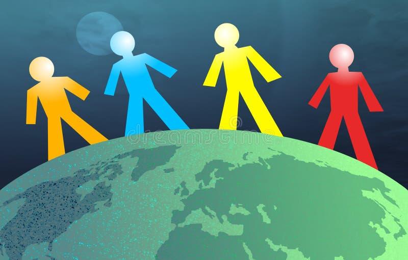 - globus ludzi ilustracja wektor