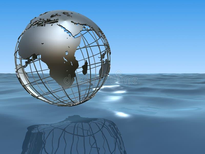 - globus oceanu royalty ilustracja