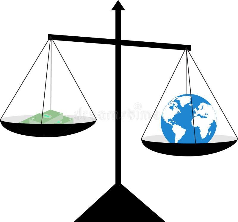- globus pieniądze ilustracja wektor