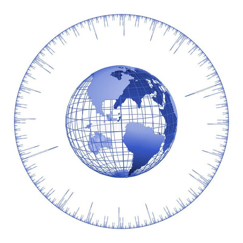 - globus razem ilustracja wektor
