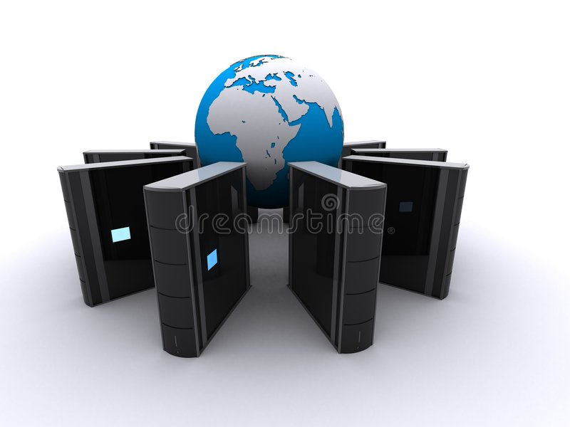 - globus serwer ilustracja wektor