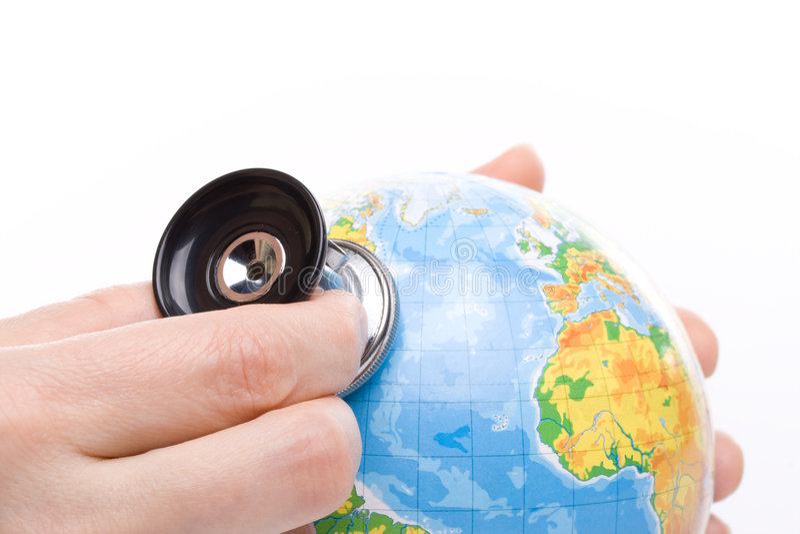 - globus stetoskop zdjęcie stock